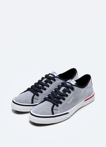 KENTON SMART CHAMBRAY CANVAS SNEAKERS för 549 kr