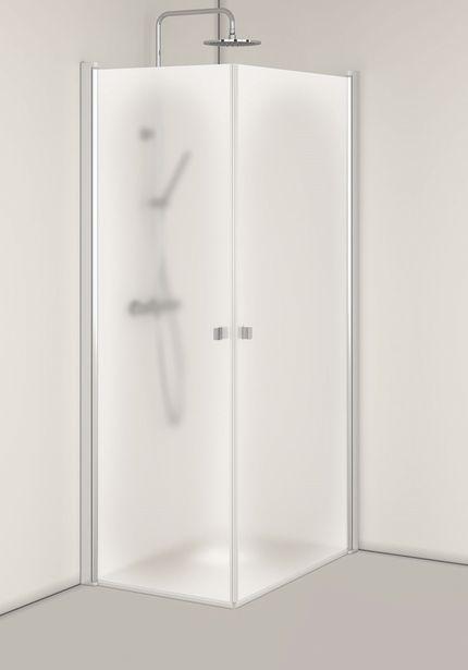 Duschhörn Hafa Igloo Pro Corner 90x90 mm Frostad för 7560 kr