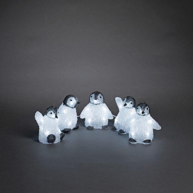 Julbelysning Konstsmide Pingviner Akryl 5St 24V IP44 LED för 209,5 kr