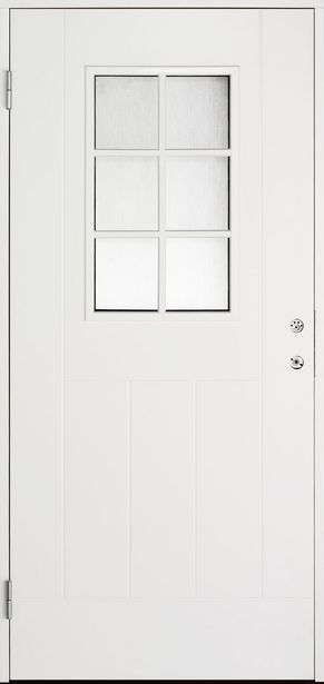 Ytterdörr Cello Vit 6-Glas Vit 10X21 Vänster för 3995 kr