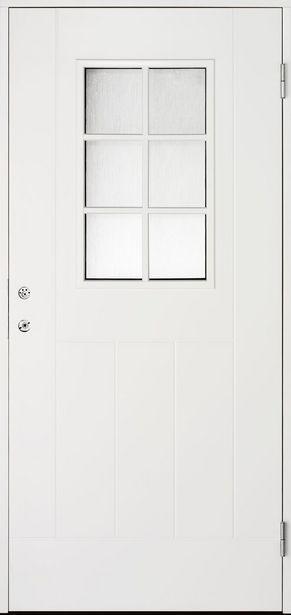 Ytterdörr Cello Vit 6-Glas 10X21 Höger för 3995 kr