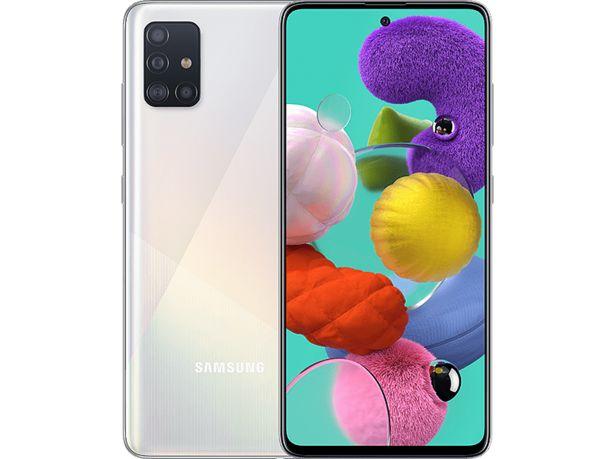 """SAMSUNG Galaxy A51 128GB (4GB RAM) 6.5"""" Smartphone - Vit för 2990 kr"""