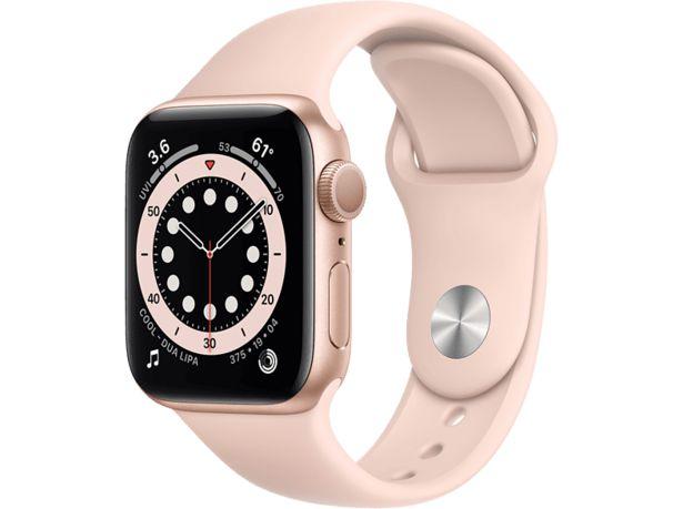 APPLE Watch Series 6 GPS 40mm Aluminiumboett i Guld - Sportband i Sandrosa för 3590 kr