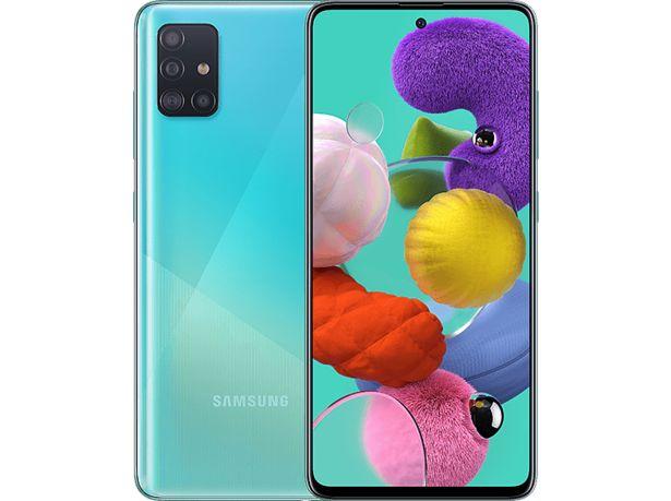 "SAMSUNG Galaxy A51 128GB (4GB RAM) 6.5"" Smartphone - Blå för 2990 kr"