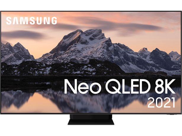 "SAMSUNG QE65QN800ATXXC 65"" 8K Neo QLED Smart-TV 2021- Stainless Steel för 34990 kr"