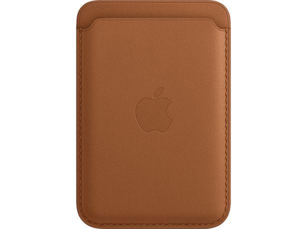 APPLE iPhone-plånbok i Läder med MagSafe - Sadelbrun för 349 kr