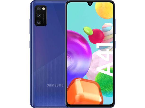 "SAMSUNG Galaxy A41 64GB (4G / 4GB RAM) 6.1"" Smartphone - Blå för 2290 kr"