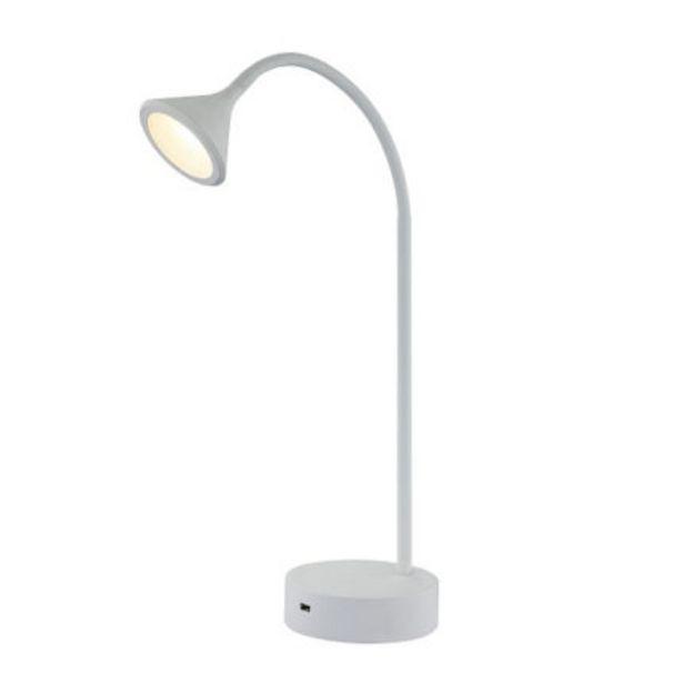 Bordslampa Nero Vit Med USB för 499 kr