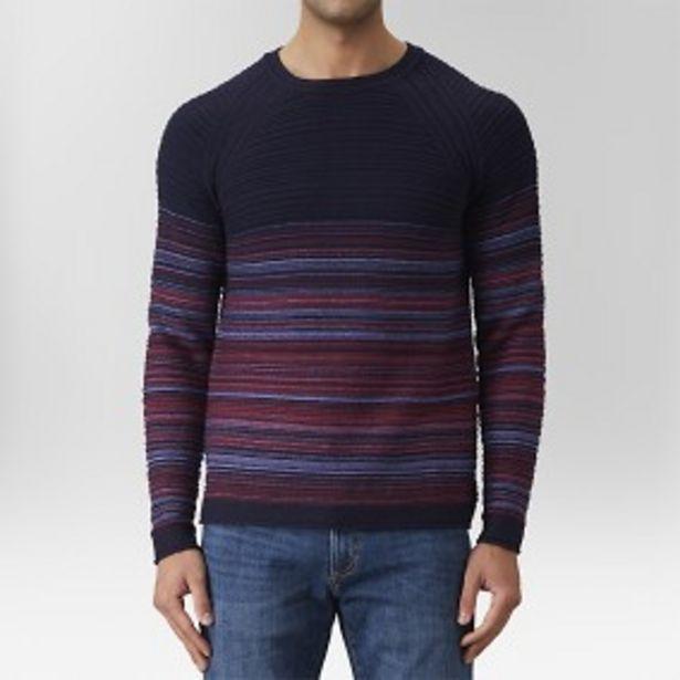 Umit randig tröja blå för 199 kr