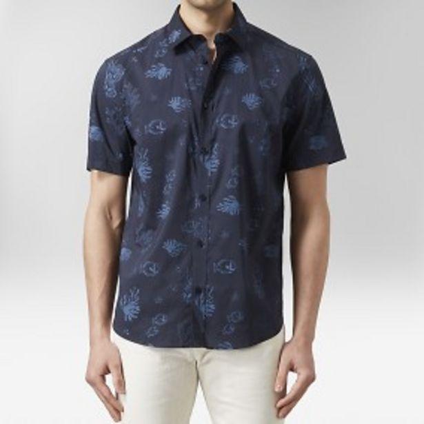 Blecket kortärmad skjorta blå för 149 kr