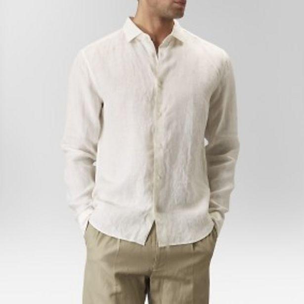 Landsort linneskjorta benvit för 399 kr