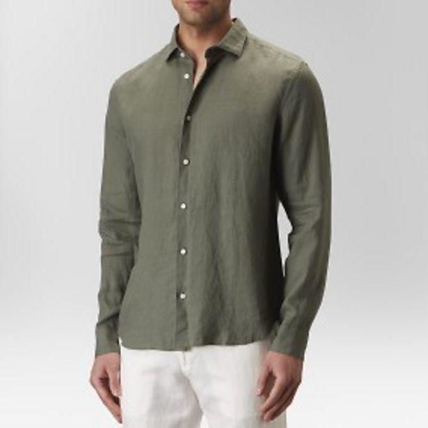 Landsort linneskjorta grön för 399 kr