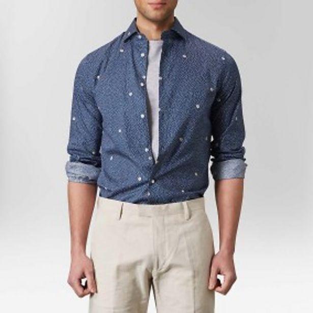 Kville prickig skjorta blå för 149 kr