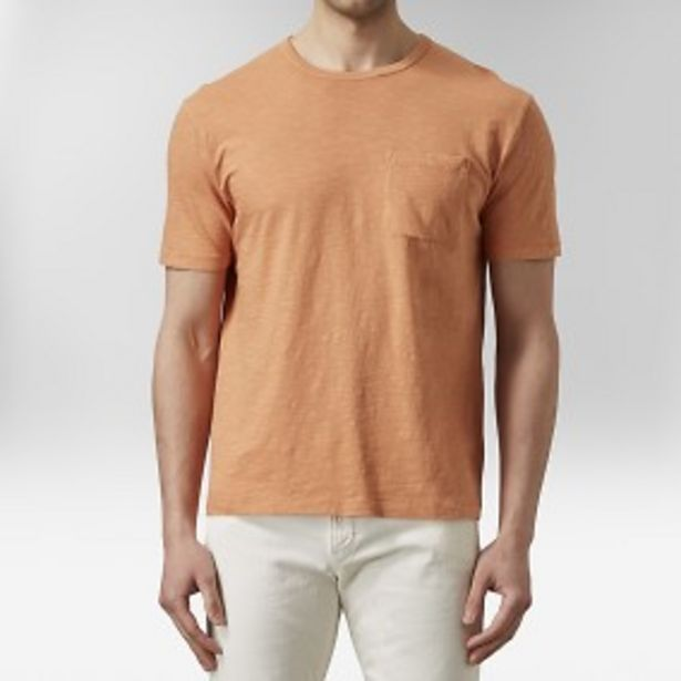 Konstantin slub t-shirt orange för 99 kr