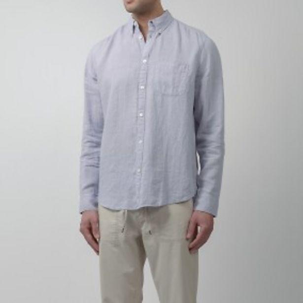 Flynn linneskjorta lila för 399 kr