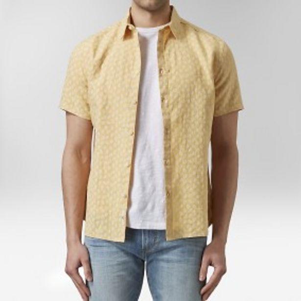 Marvin kortärmad linneskjorta gul för 149 kr