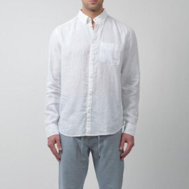 Flynn linneskjorta vit för 399 kr