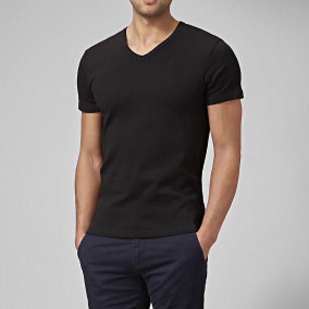 T-shirt v-neck svart för 125 kr