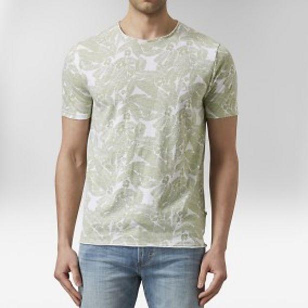 Kenji mönstrad t-shirt grön för 75 kr
