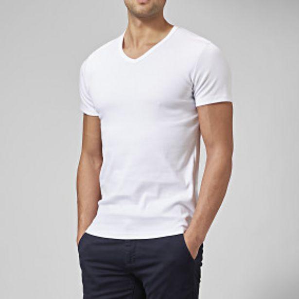 T-shirt v-neck vit för 125 kr