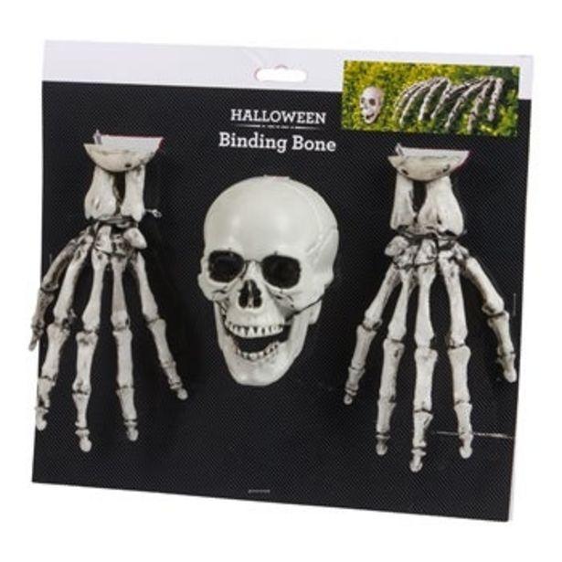 Dödskalle skeletthänder dekoration för 49 kr