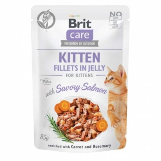 Brit Care Cat Kitten Lax i Gelé 85 g för 13,9 kr
