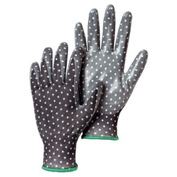 Handske garden dip svart doppad i nitril stl 7 för 9 kr
