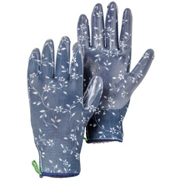 Handske i stickad polyester garden dip indigo för 9 kr