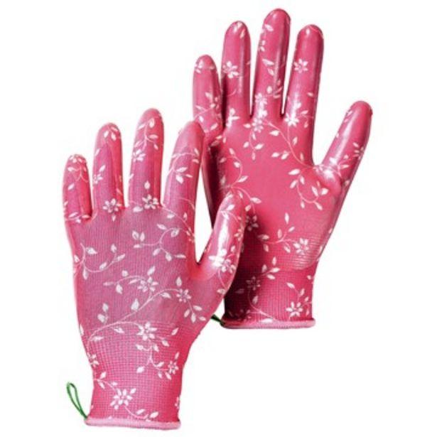 Handske i stickad polyester garden dip, fuchsia för 9 kr