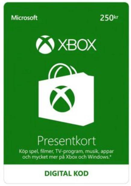 Xbox LIVE presentkort 250Kr för 250 kr
