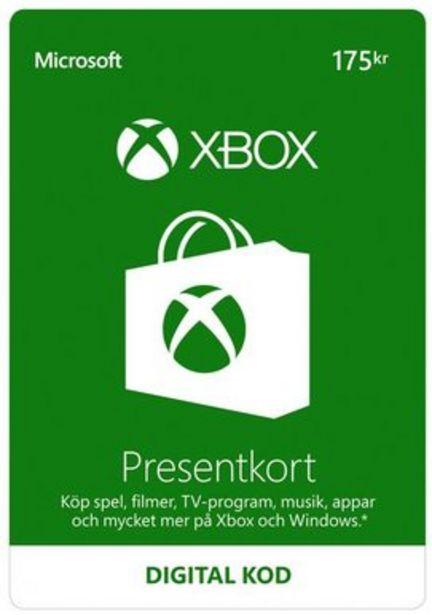Xbox LIVE presentkort 175Kr för 175 kr