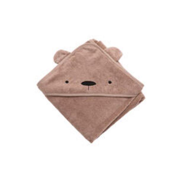 Björnen Milo handduk med luva, rustic plum för 449 kr