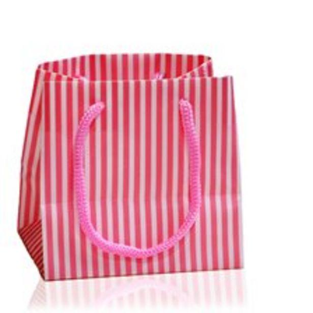 Påse randig pink för 10 kr
