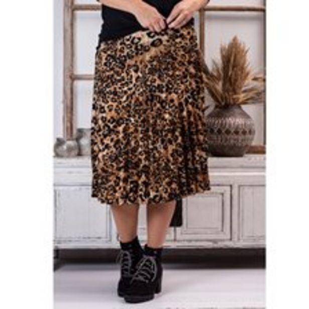 Kjol plisserad Leo brun för 249 kr