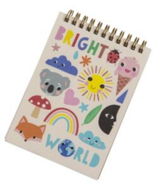 Anteckningsblock Bright World för 15 kr