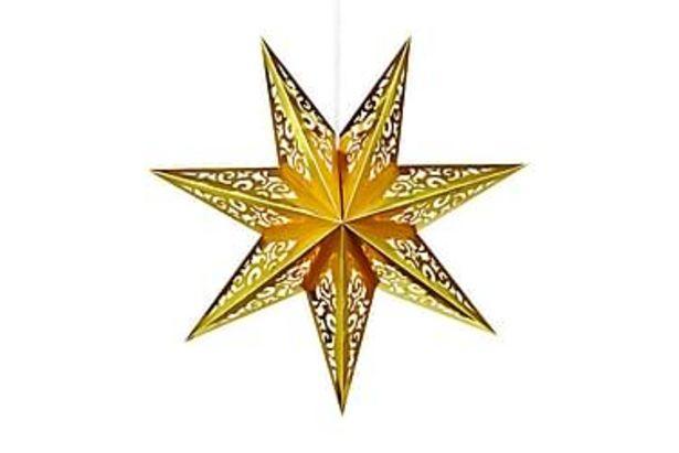 Julstjärna Vallby 75 cm Guld för 149 kr