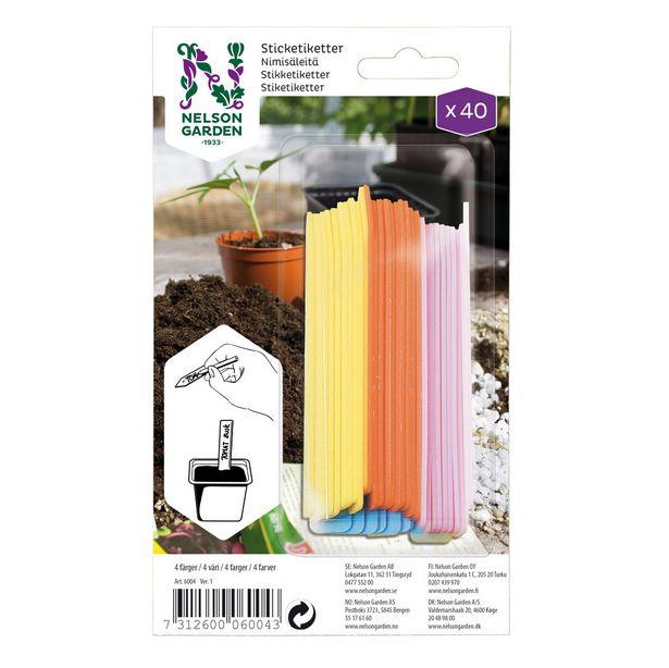 Sticketikett färg plast för 39,9 kr