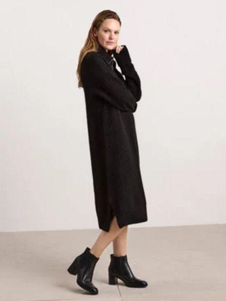 Stickad klänning i ullblandning för 599 kr