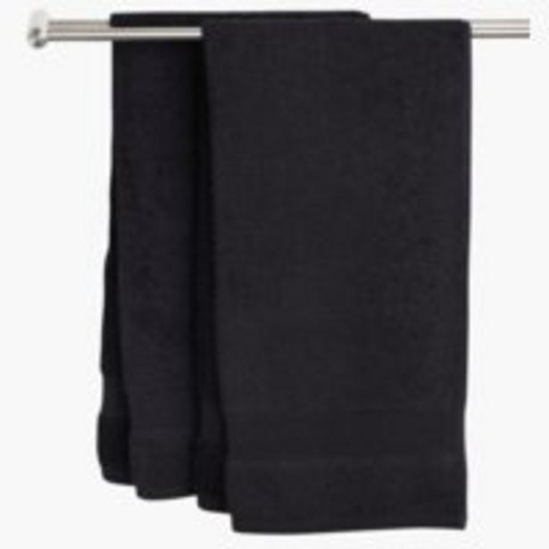 Handduk KARLSTAD 50x70 svart för 2 kr
