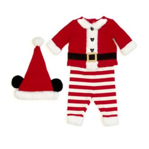 Disney Store Mickey Mouse Santa Claus Baby Outfit för 35 kr
