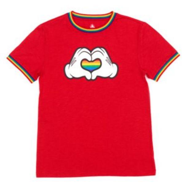 Disney Store Mickey Mouse Rainbow Heart Rainbow Disney T-Shirt For Adults för 12,9 kr