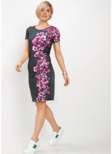 Trikåklänning med mönster för 299 kr