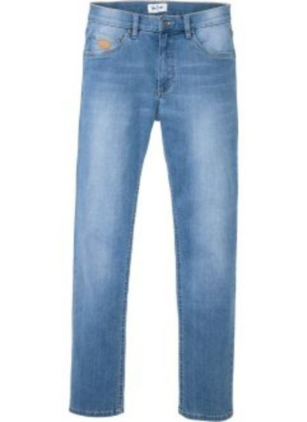 Extra mjuka jeans med bekvämt snitt, smal passform, raka ben för 159 kr