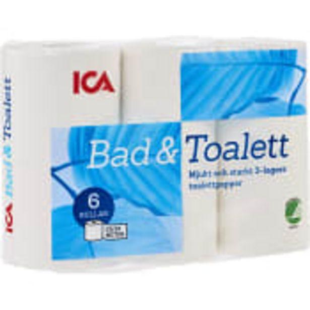 Toalettpapper 6-p Miljömärkt ICA för 32,5 kr