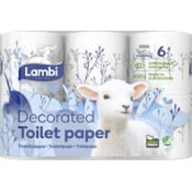 Toalettpapper Dekor 6-p Lambi för 33,5 kr