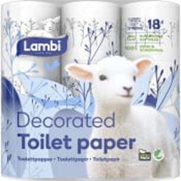 Toalettpapper Dekor 18-p Lambi för 84,9 kr