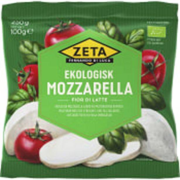 Mozzarella Ekologisk 100g Zeta för 16,9 kr