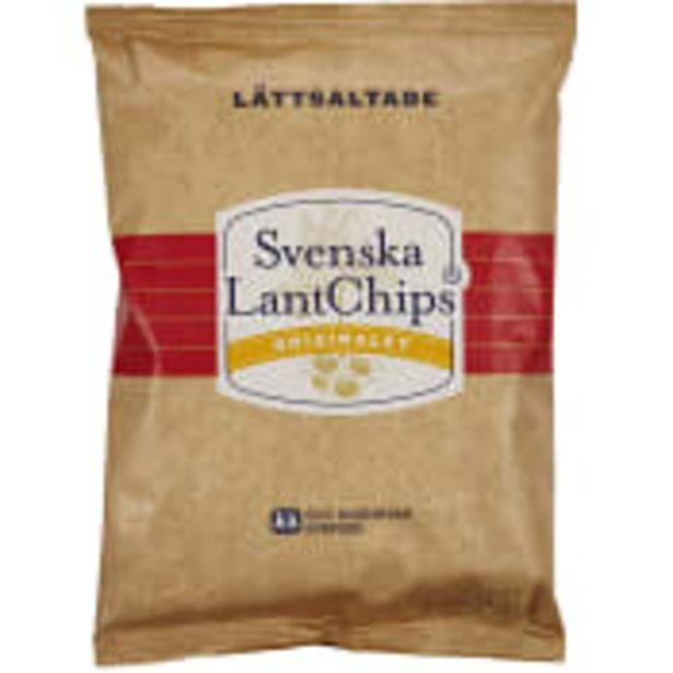 Chips Lättsaltade 200g LantChips för 20,9 kr
