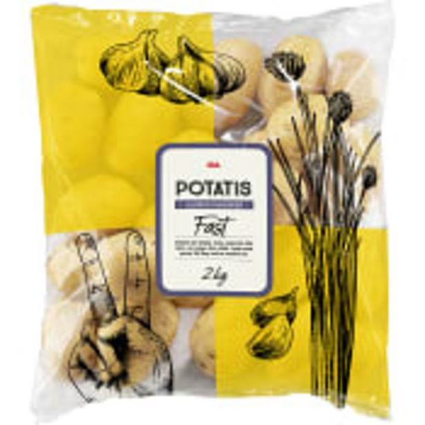 Fast potatis 2kg Klass 1 ICA för 26,9 kr