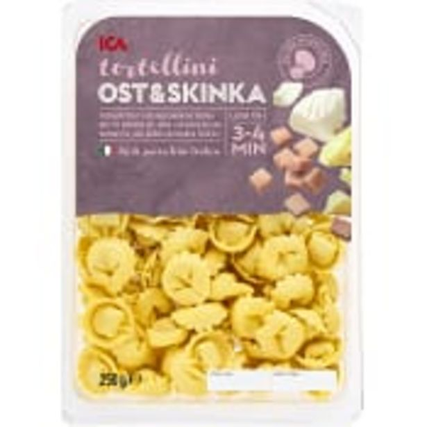 Tortelloni Ost Skinka 250g ICA för 26,9 kr